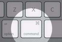 command toets