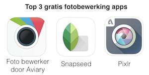 top 3 gratis fotobewerking apps